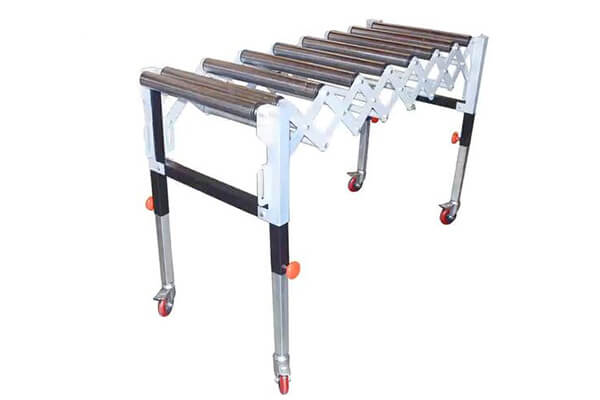 Non power flexible expandable extendable roller conveyor